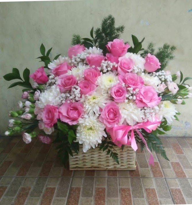 Jual Bunga Wisuda FB3 – Flower White Pink
