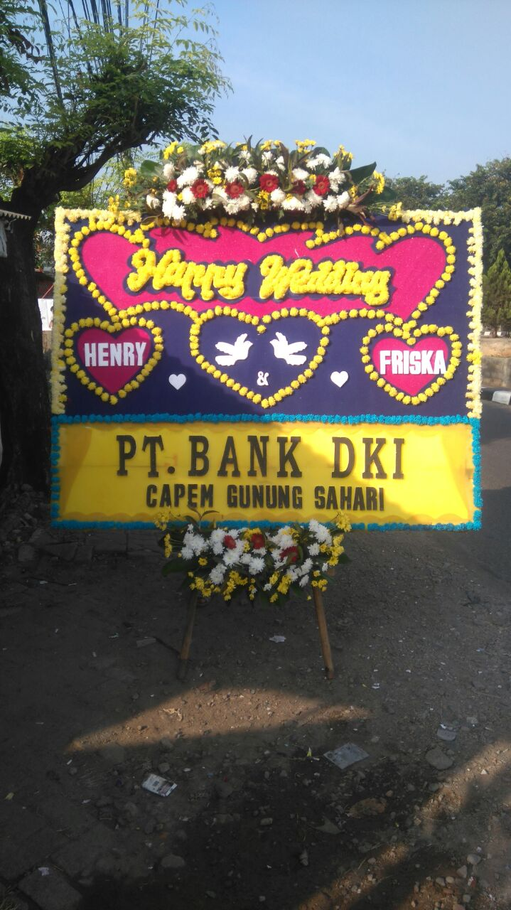 Jual Bunga Papan BP34 – Happy Wedding