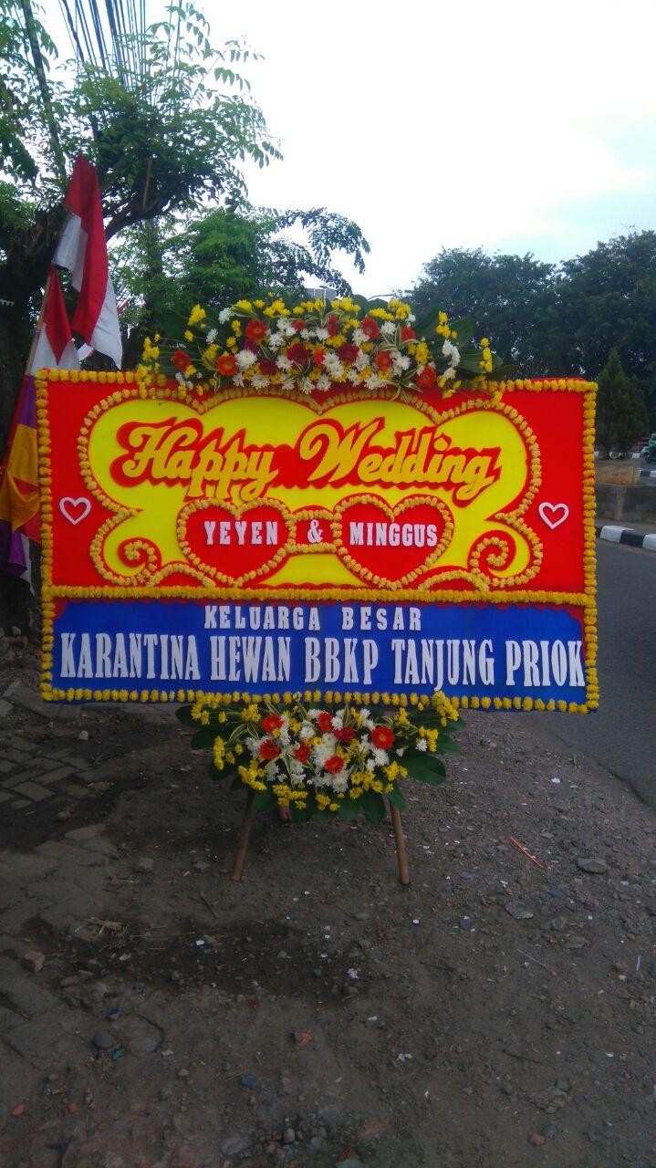 Jual Bunga Papan BP35 – Bunga Papan Wedding