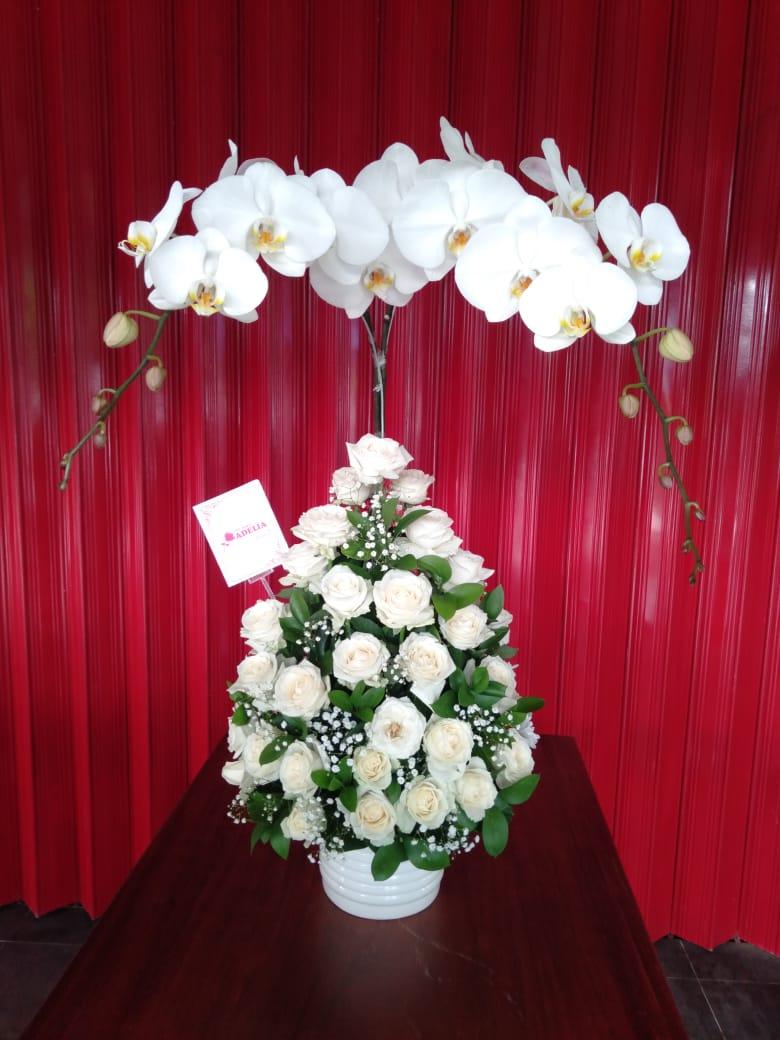 Jual Bunga Wisuda FB5- Flower Putih